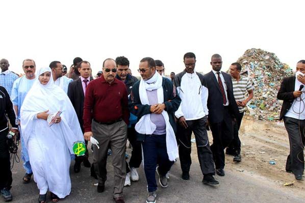 Le président de la République s'informe de l'efficacité de la campagne globale de nettoyage de la wilaya de Nouakchott Sud