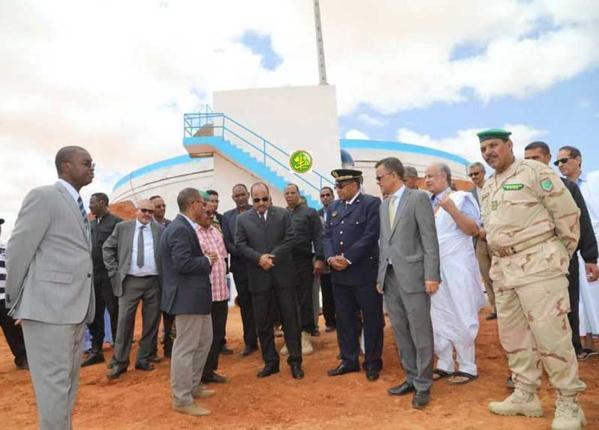 Le Président de la République visite le réservoir principal d'eau du Projet Dhar