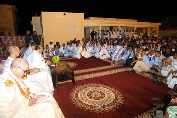 Le Président de la République se réunit à Aleg avec les cadres de la wilaya du Brakna