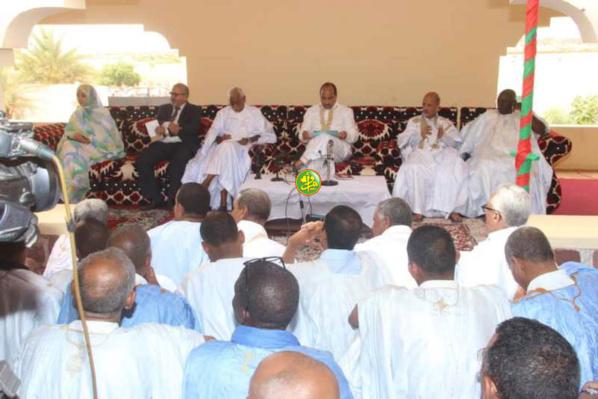 Le Président de la République tient une réunion avec les cadres du Hodh El Gharbi