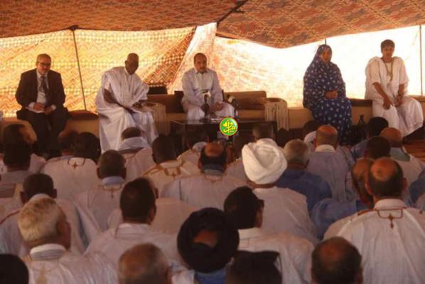 Akjoujt: Le président Aziz reçoit cadres, élus et représentants d'associations