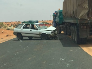 Accident de la circulation à l'entrée Est de Boutilimit