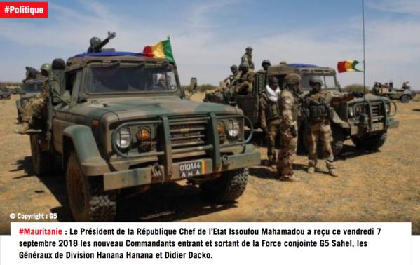G5 Sahel :  le nouveau commandant au Niger