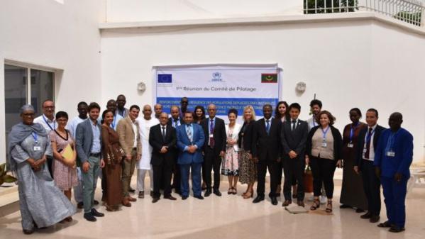 Premier comité de pilotage du partenariat UE – HCR sur le projet « Renforcement de la résilience des populations déplacées par l'instabilité au Nord du Mali et soutien à la coexistence pacifique entre communautés » en Mauritanie.