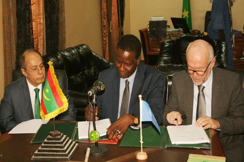 Signature d'une convention RIM – FAO pour le financement d'un projet régional de réhabilitation des terres dégradées en Mauritanie