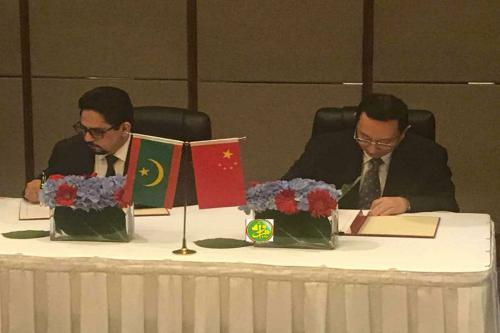 Signature d'un accord culturel entre la Mauritanie et la Chine
