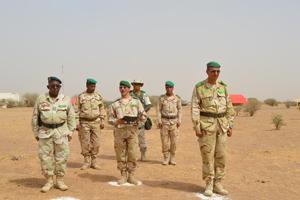 Passation de consigne au bataillon mauritanien du G5 Sahel