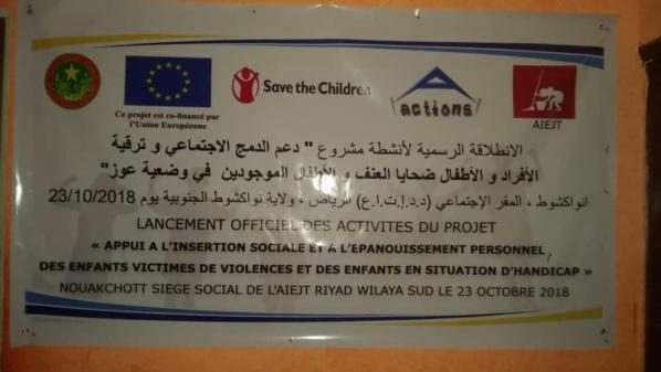 Lancement du projet appui à l'insertion des enfants victimes de violences et des enfants en situation d'handicap