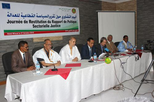 Concertation pour la présentation du rapport sur le renforcement de la politique du secteur de la justice