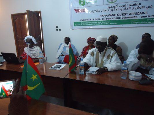 Lancement à Nouakchott de la 2ème édition de la «Caravane ouest-africaine pour la Terre, l'Eau et les Semences »