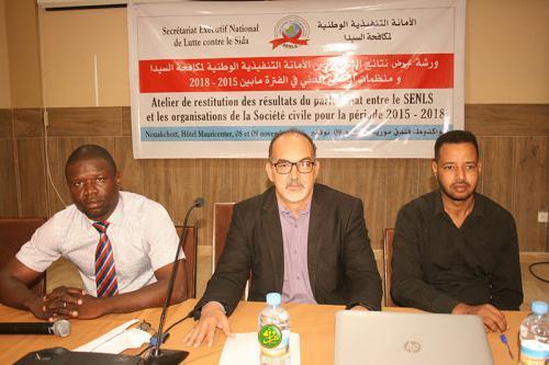 Restitution des résultats du partenariat entre le SENLS et les organisations de la société civile 2015/2018