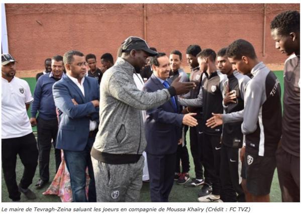 Le Maire Taleb Mahjoub visite l'Académie Méga-Foot et FC Tevragh-Zeina