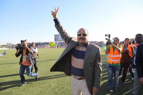 Le Chef de l'Etat assiste au match retour opposant les Mourabitoune à l'équipe nationale du Botswana