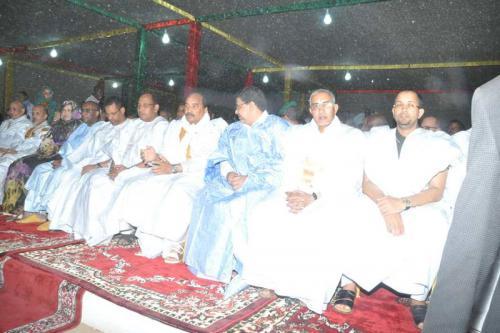 Le Président de la République assiste à Oualata à une soirée culturelle et artistique