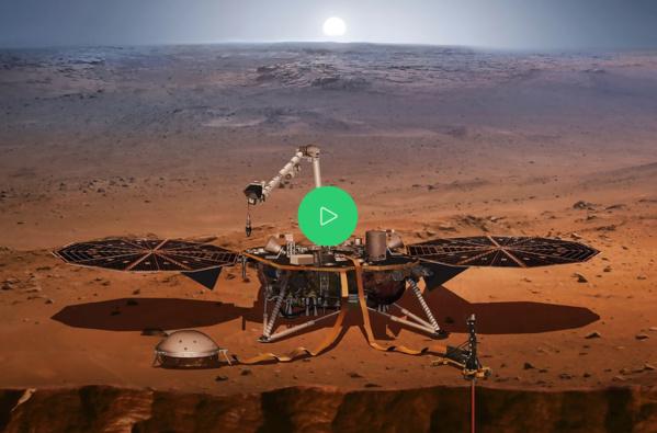 La sonde de la Nasa InSight a atterri sur Mars et fonctionne (Nasa)