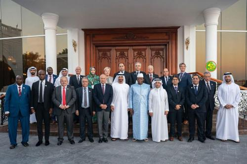 Le ministre de l'économie participe à la clôture de la conférence économique numérique à Abu Dhabi