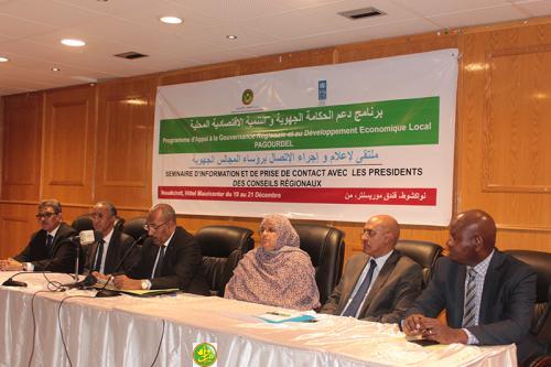 Lancement d'un séminaire d'information et de prise de contact avec les présidents des conseils régionaux