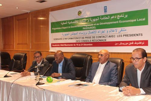 Clôture des travaux du séminaire d'information et de prise de contact avec les présidents des conseils régionaux