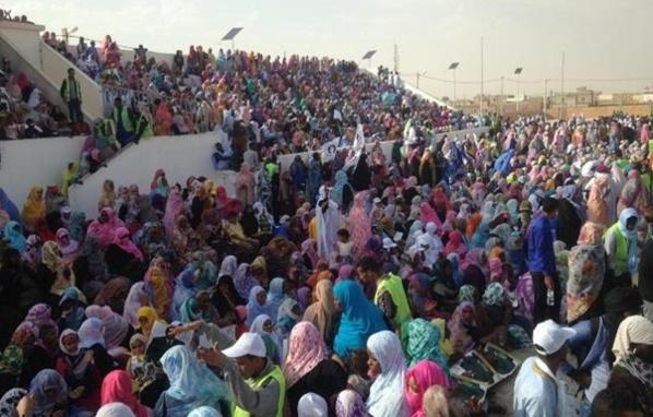 Présidentielle2019 : C'est dans un stade archi-comble de Mellah que le candidat Ould Boubacar annonce sa candidature