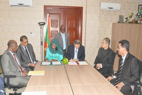 Réception du complexe olympique de Nouakchott après le parachèvement des travaux de réhabilitation et de rénovation