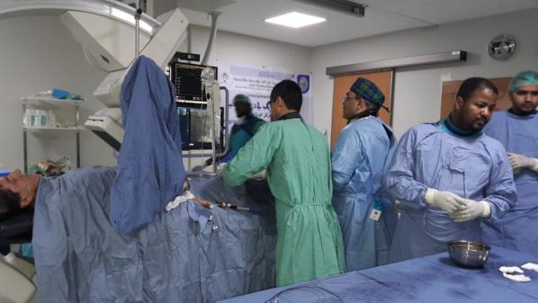 Une mission médicale du secours islamique saoudien réalise 60 dilatations des artères coronaires à Nouakchott