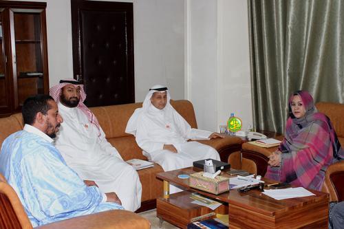La commissaire à la sécurité alimentaire reçoit une délégation de l'Association koweitienne ''Arrahma''