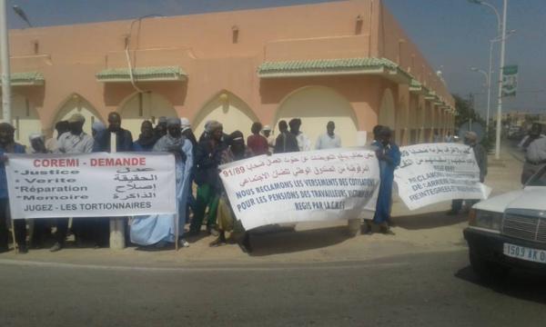 Sit in du Collectif des rescapés militaires (COREMI) devant la présidence de la République: « Pour nous, le règlement du passif humanitaire n'a pas commencé »