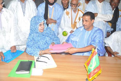 Le Conseil constitutionnel reçoit la candidature du candidat Mohamed Sidi Maouloud