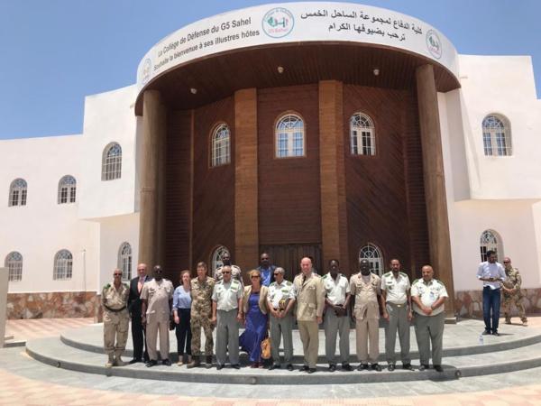 G5 Sahel : L'ambassadeur d'Allemagne en visite au Collège de Défense