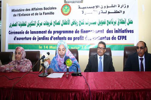 Démarrage du programme de financement de projets au profit de 47 monitrices de jardins d'enfants
