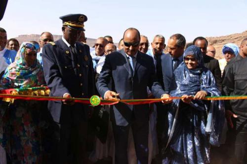 Le Président de la République inaugure le barrage de Wad Seguelil dans la wilaya de l'Adrar