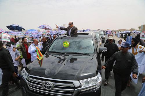 Des accueils populaires chaleureux à son retour de l'Inchiri et de la ville d'Atar
