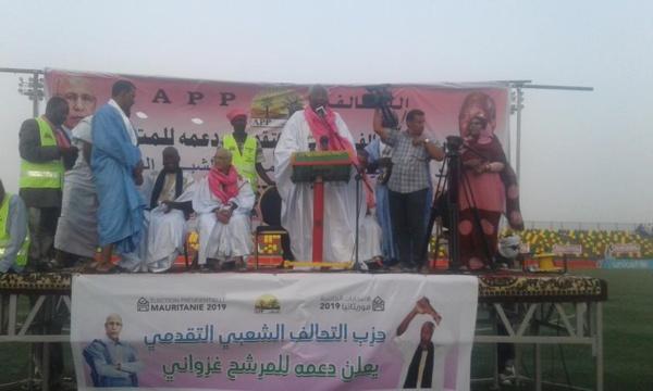 Meeting campagne : Messadoud Boulkheir explique pourquoi APP a choisi de soutenir Ghazwani