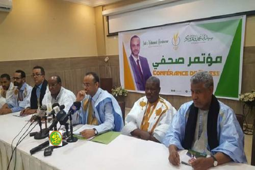Le candidat Sidi Mohamed Ould Boubacar passe en revue les principaux axes de son programme électoral