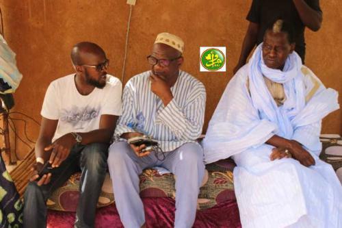 Le candidat aux élections présidentielles de 2019 Kane Hamidou Baba préside un meeting électoral à N'Tekane