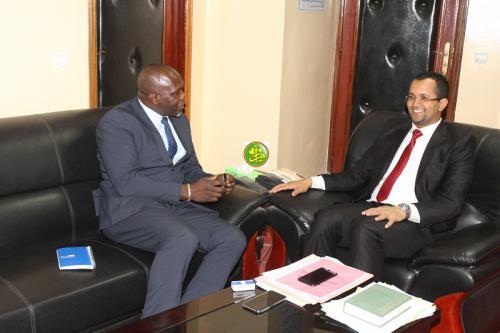 Le ministre des affaires islamiques reçoit le chef de la cellule de liaison de la Mauritanie avec le bureau des Nations Unies pour l'Afrique de l'Ouest et le Sahel