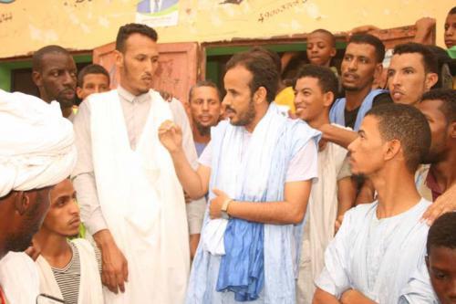 Le candidat Mohamed Lemine El Mourteji El Wafi rencontre les agriculteurs dans la valée