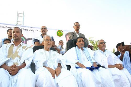 Le candidat Mohamed Ould Maouloud préside un meeting populaire à Nouakchott