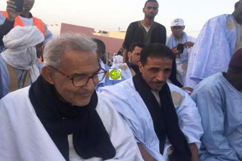 Le candidat Mohamed Ould Maouloud préside son meeting de clôture de campagne à Nouadhibou