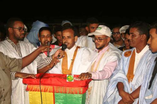 Le candidat Mohamed Lemine El Mourteji El Wafi clôture sa campagne électorale à partir de Nouadhibou