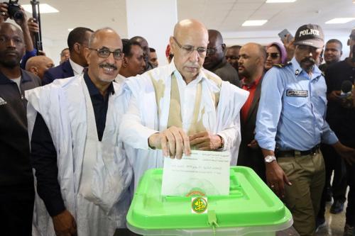 Ould Ghazouani félicite le peuple mauritanien pour sa maturité politique