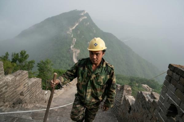 Pierre par pierre, ils réparent la Grande muraille de Chine