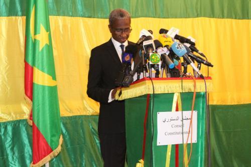 Le Président du conseil constitutionnel commente la délibération de ce conseil sur la Présidentielle
