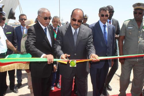 Le Président de la République inaugure le bâtiment de guerre Nimlane