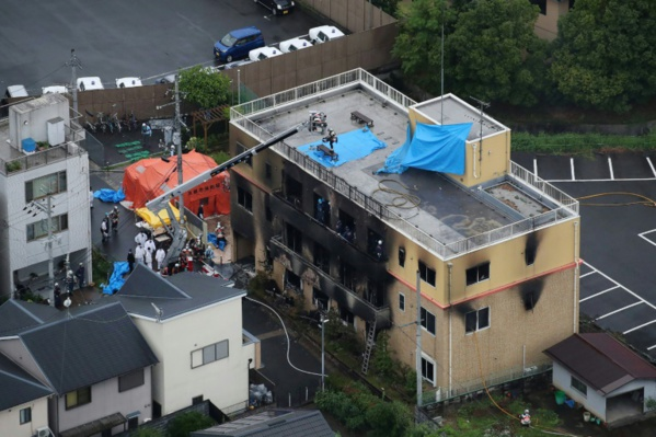 L'incendie criminel d'un studio d'animation au Japon fait 33 morts