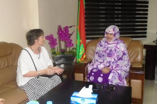 La ministre du développement rural s'entretient avec la représentante de la FAO