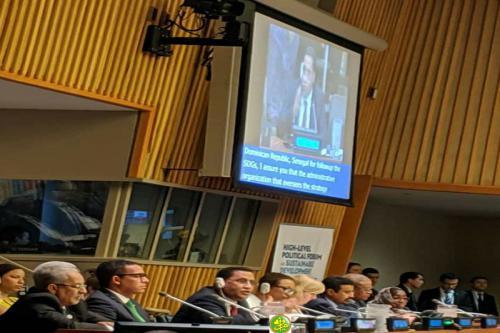 La Mauritanie présente son rapport de la Revue Nationale Volontaire sur les ODD au Forum Politique de haut Niveau sur le Développement Durable