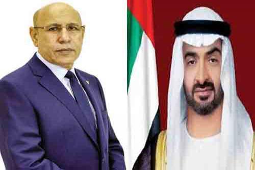 Le Président de la République reçoit une communication téléphonique du Prince héritier d'Abu Dhabi
