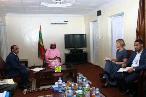 La ministre des Affaires sociales s'entretient avec une mission de l'OIM