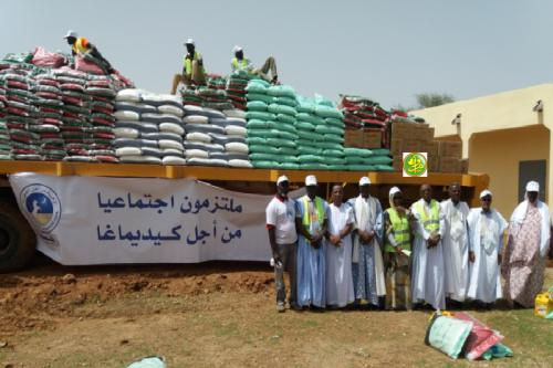 L'UPR distribue des quantités de produits alimentaires au profit de 700 familles à Sélibabi